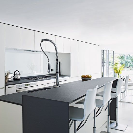 Gray and white kitchens white and grey kitchen kitchen for White and grey kitchen designs