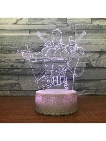 Double Swordsman Pattern Touch Colors Changing LED Night Light