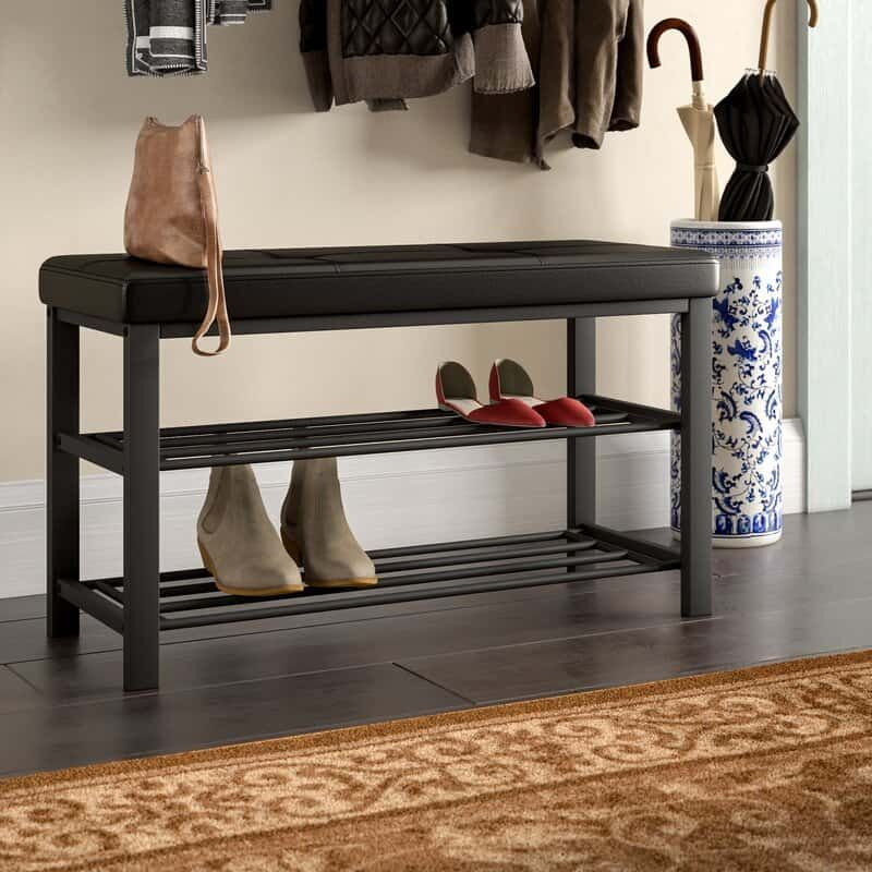 27 Creative And Efficient Ways To Store Your Shoes In 2020 Upholstered Storage Upholstered Storage Bench Leather Storage Bench