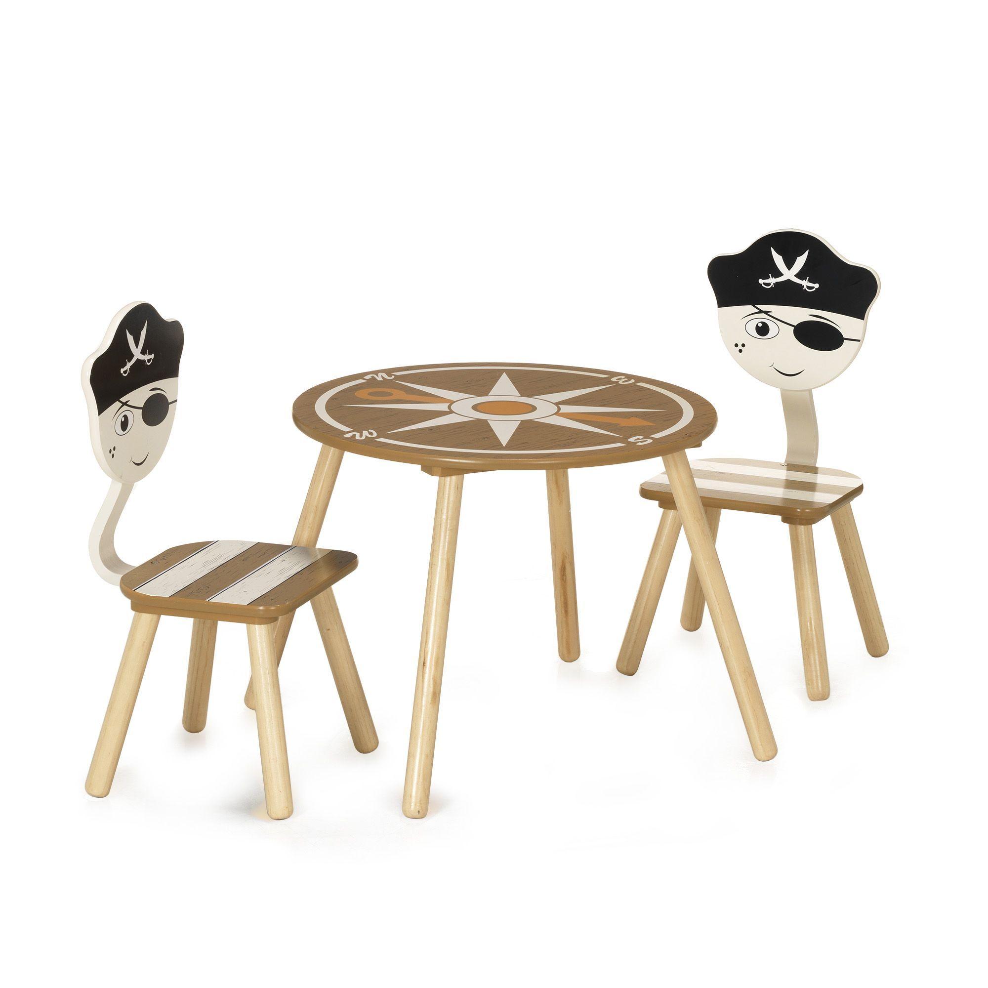 Ensemble table et chaises pour enfant Beige, marron et ...