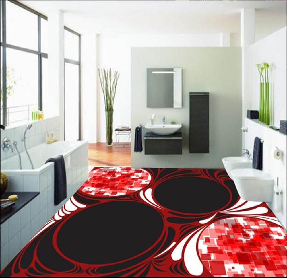 (Buy here: http://appdeal.ru/gqf ) Custom photo wallpaper/mural PVC floor wallpaper/3d wallpaper/Creative design decorative pattern 3 d floor/KTV/Hotel/Kitchen for just US $59.99