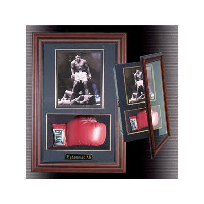 493c67039 Caseworks International Boxing Glove and Photo Framed Memorabilia Color   Mahogany