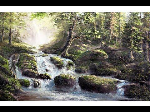 Bleak Midwinter Landscape Painting Oil Paint With Maz Online Classes Youtube Kevin Hill Paintings Waterfall Landscape Landscape Paintings