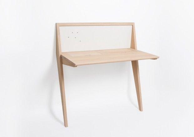 Bureau compas et tables aronde par thomas merlin studio pour