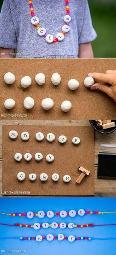 DIY Clay Alphabet Necklace Craft for Kids