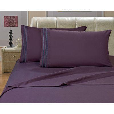 Varick Gallery Knorr Split King 1500 Thread Count Sheet Set Color: Purple