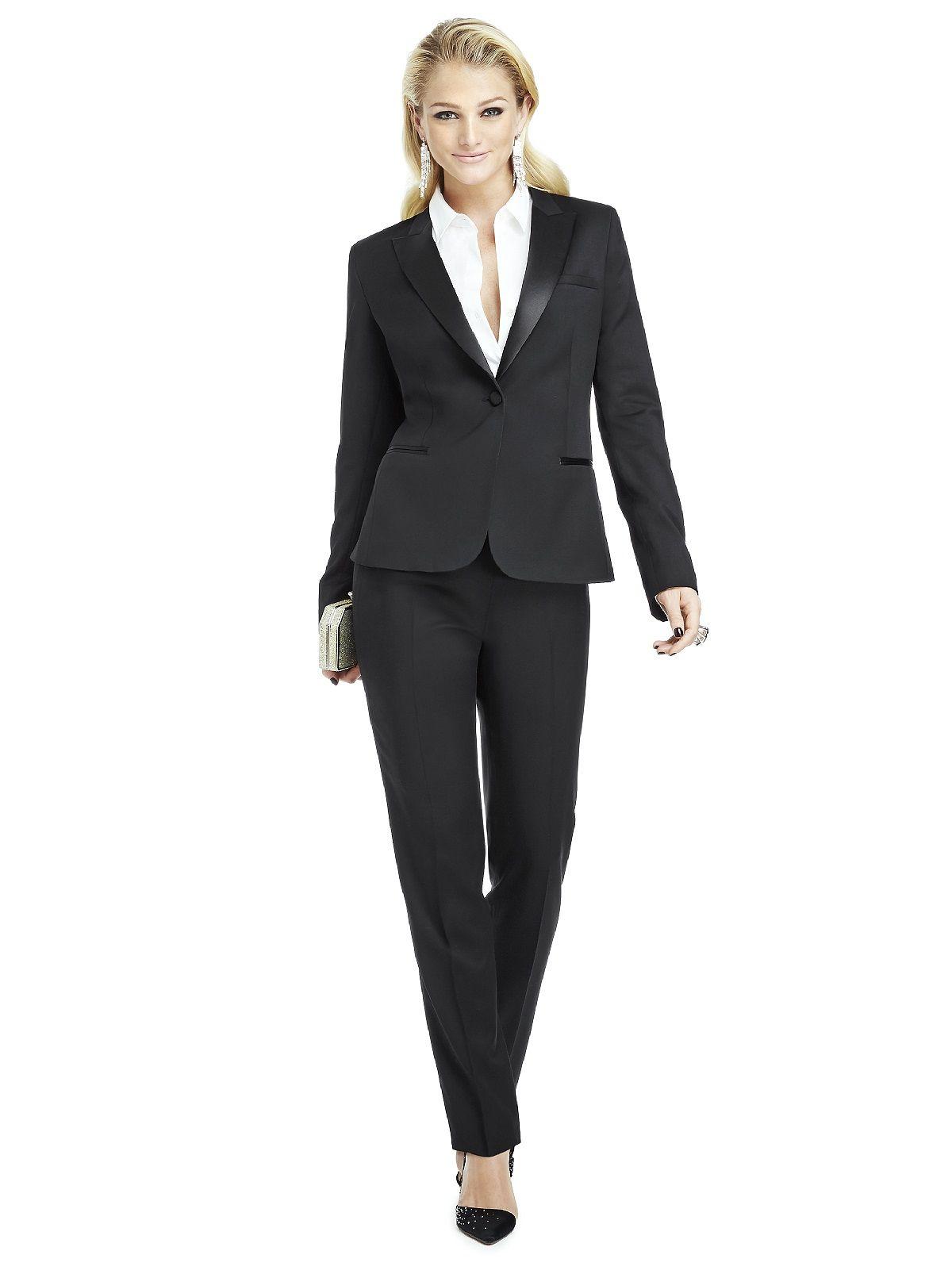 Marlowe Women\'s Tuxedo Jacket - Peak Collar | Womens tuxedo jacket ...