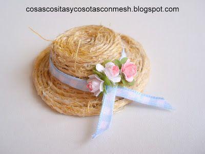 Escala 1:12 Tejido Sombrero de Paja una casa muñeca miniatura