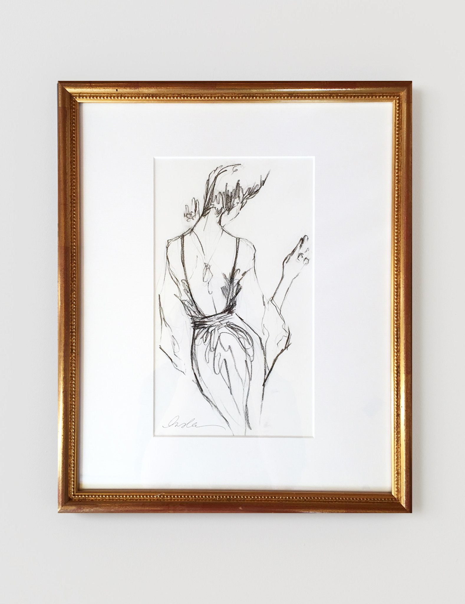 The perfect pencil sketch framed original inslee by design
