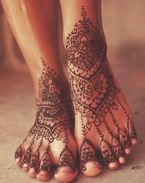 Foot Henna Tattoo Prices: Amazing Henna Tattoo On Feet