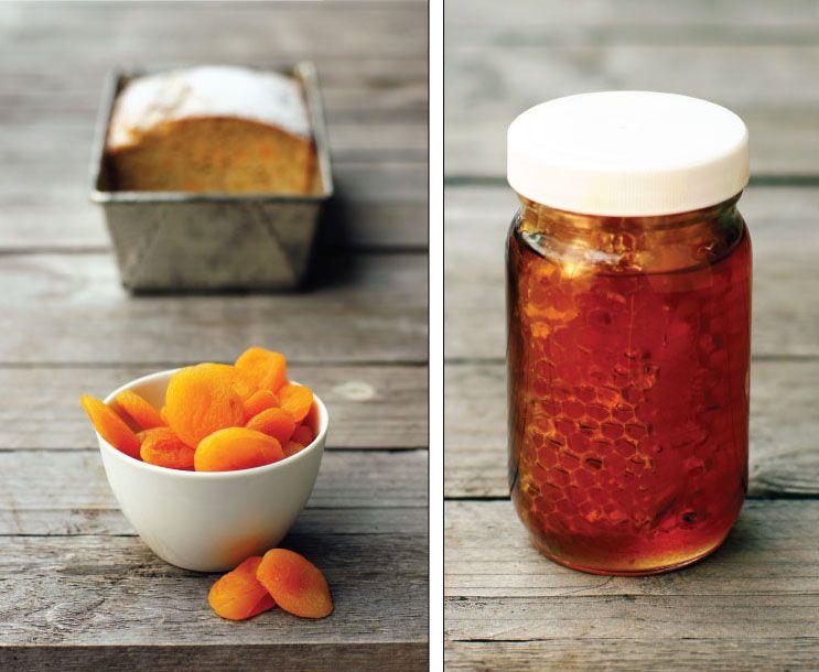 Honey apricot bread with marmalade cream cheese spread