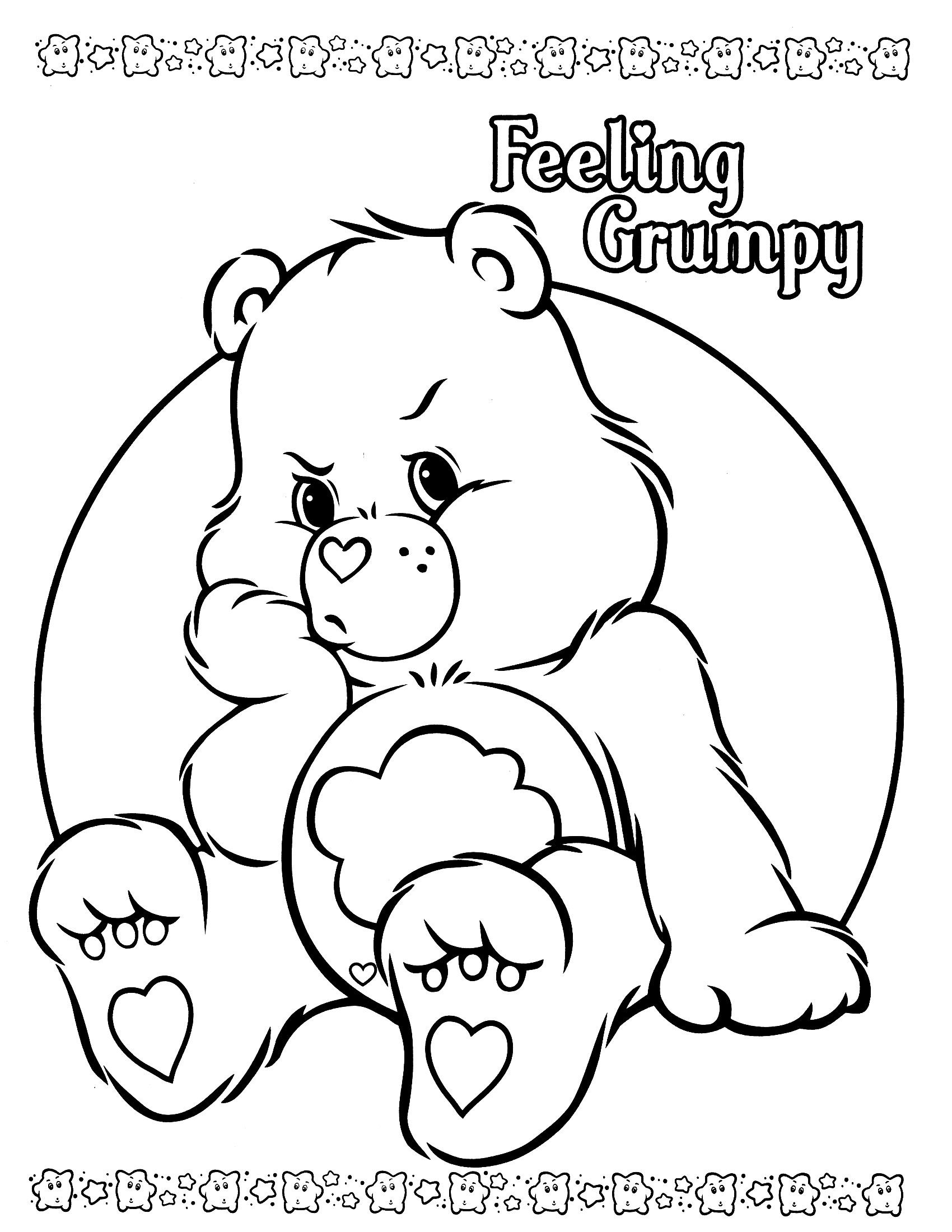 Grumpy Care Bears Coloring Bear Coloring Pages Cute Coloring