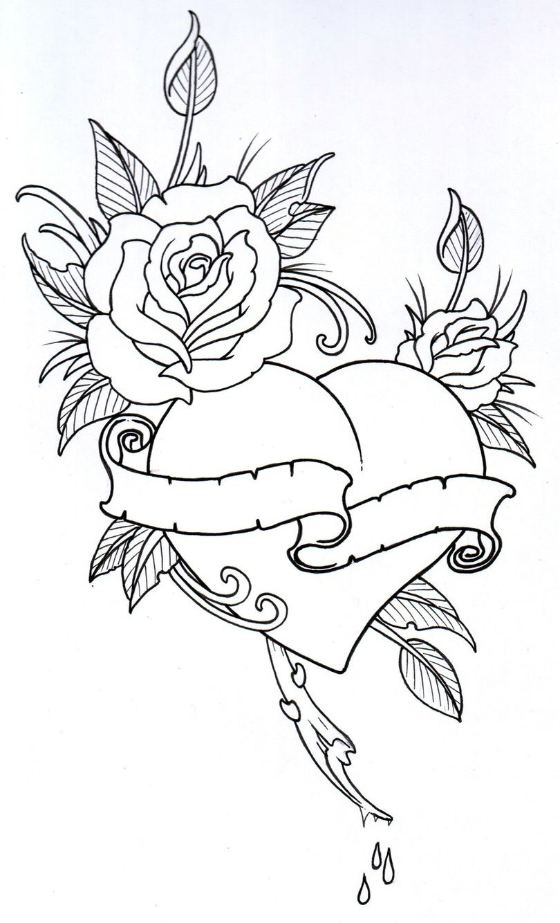 Hannah wants love symbol- encasing roses... (With images ...