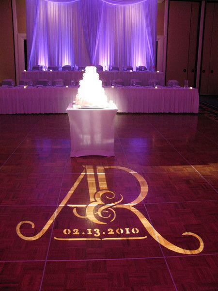 Gobo On The Dance Floor At This Wedding Rentmywedding