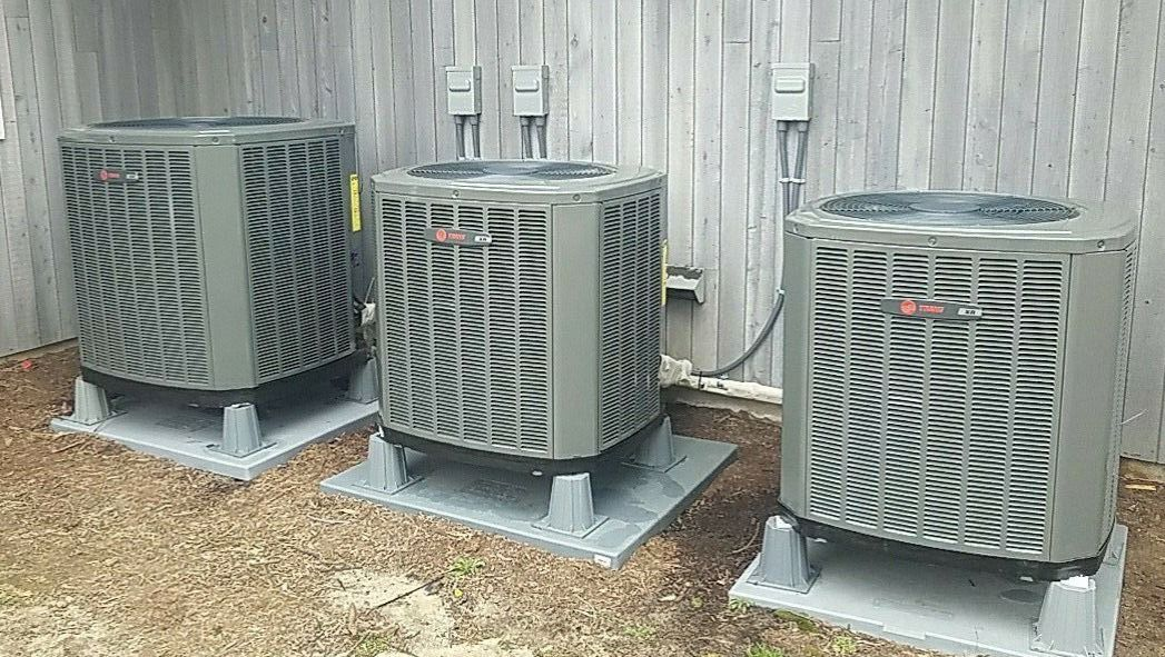 We installed 3 new Trane Air Conditioning / Heating Units