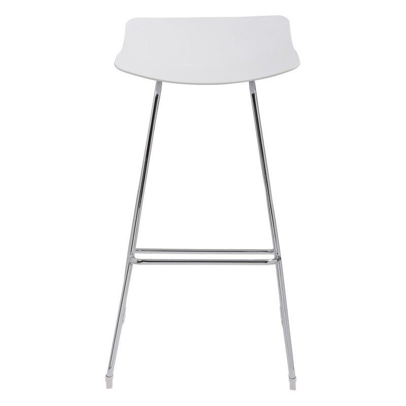 Emerald Home Neo 35 In Molded White No Back Barstool With Chrome Base Set Of 2 Emer1281 Bar Stools 30 Bar Stools Bar Stool Buying Guide