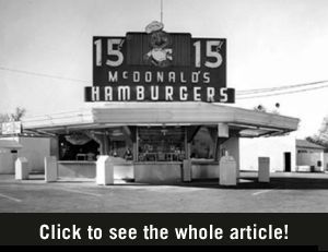 The First Mcdonald S In 1940 Maurice And Richard Mcdonald Moved