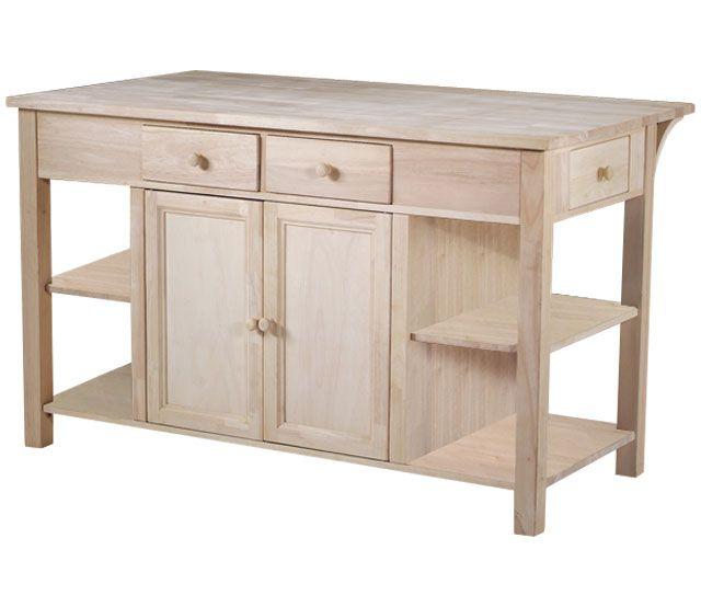 Unfinished Kitchen Island Cabinets: $499 Mills Stores Unfinihed Kitchen Island, Bfast Bar Item