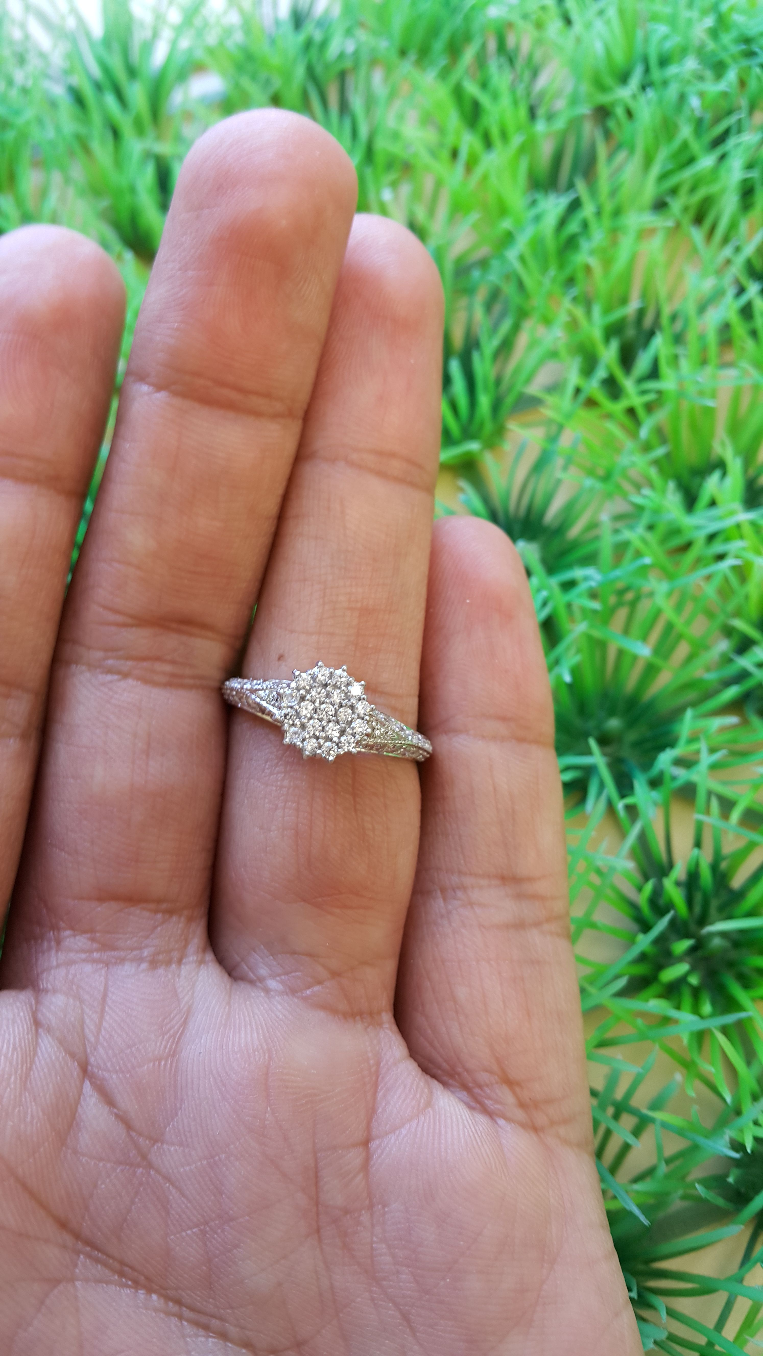 Rings on Hand Engagement Ring BT703YE Wedding ring