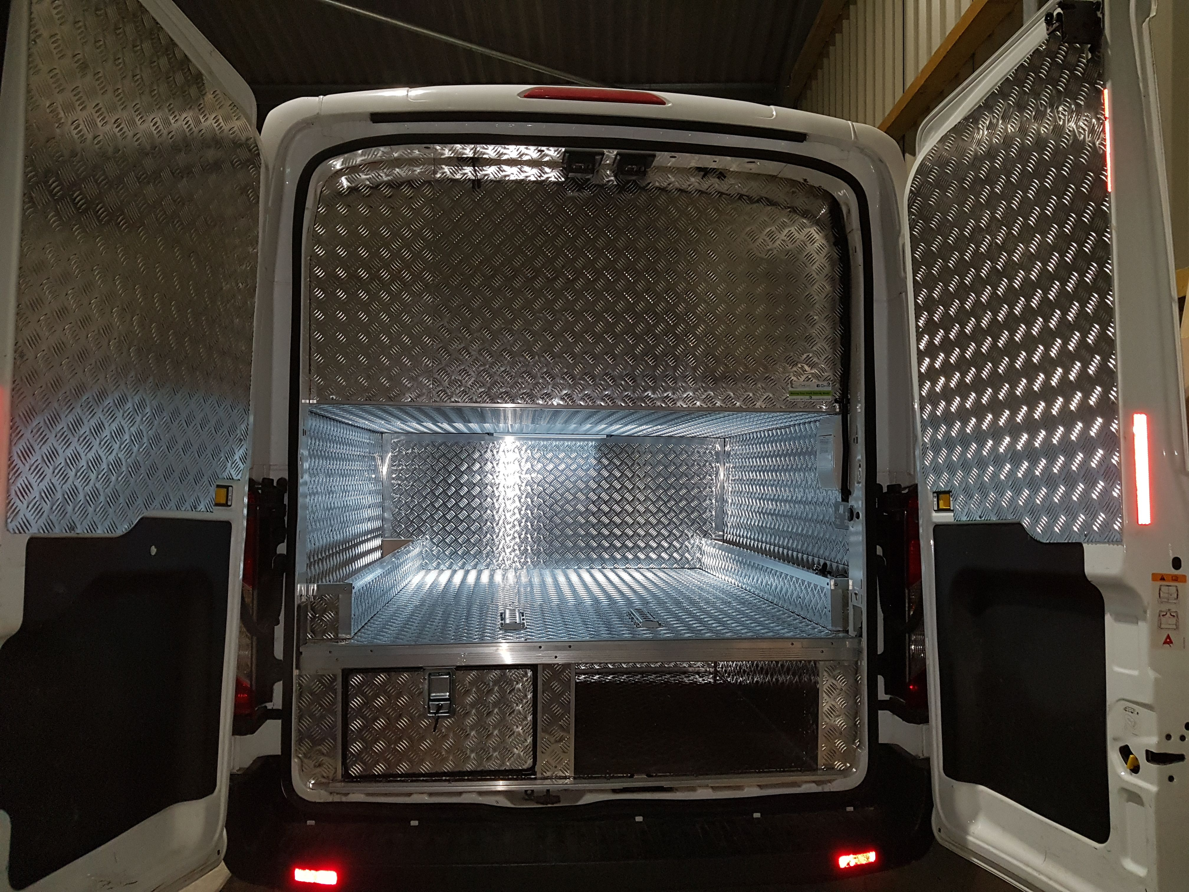 Go Kart Race van rear storage with floor drawers | Vehicle