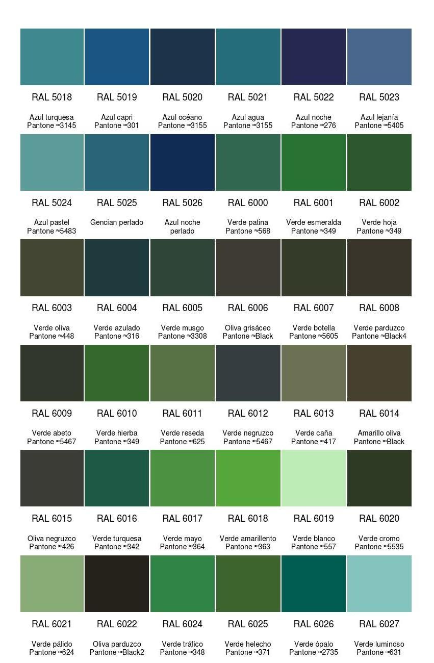 carta colores ral teor a colores pinterest. Black Bedroom Furniture Sets. Home Design Ideas