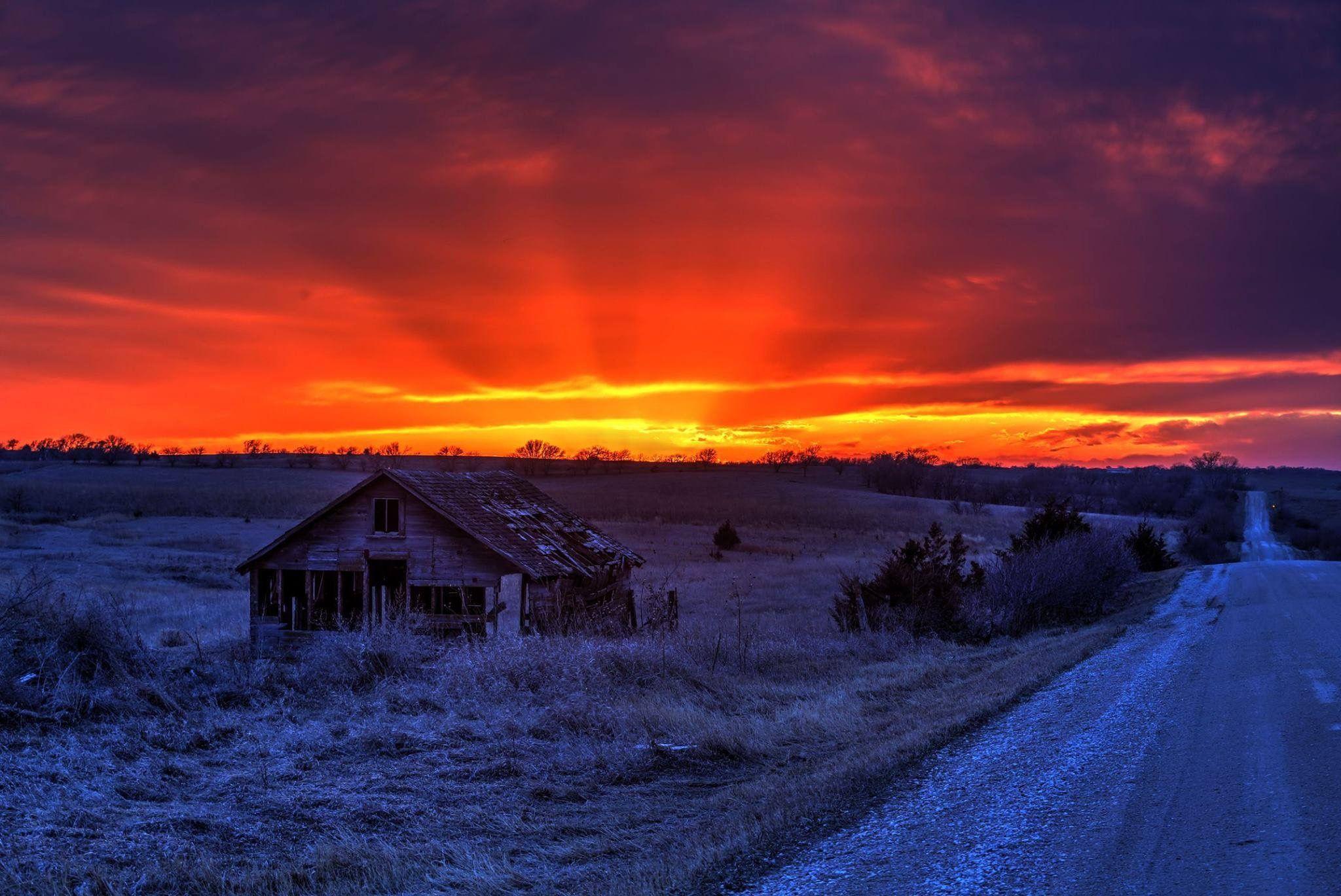 Nebraska by Peggy Thuman House styles, Sunset, Nebraska