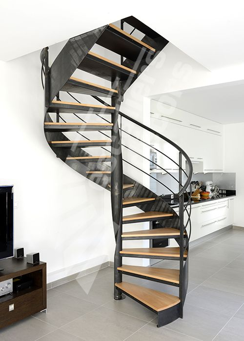 Dh109 spir 39 d co flamme mixte escalier d 39 int rieur m tallique desi - Escalier helicoidal metallique ...