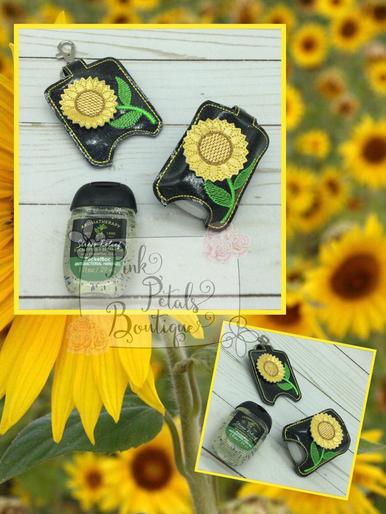 Sunflower Hand Sanitizer Holder Keeper 3d Hand Sanitizer