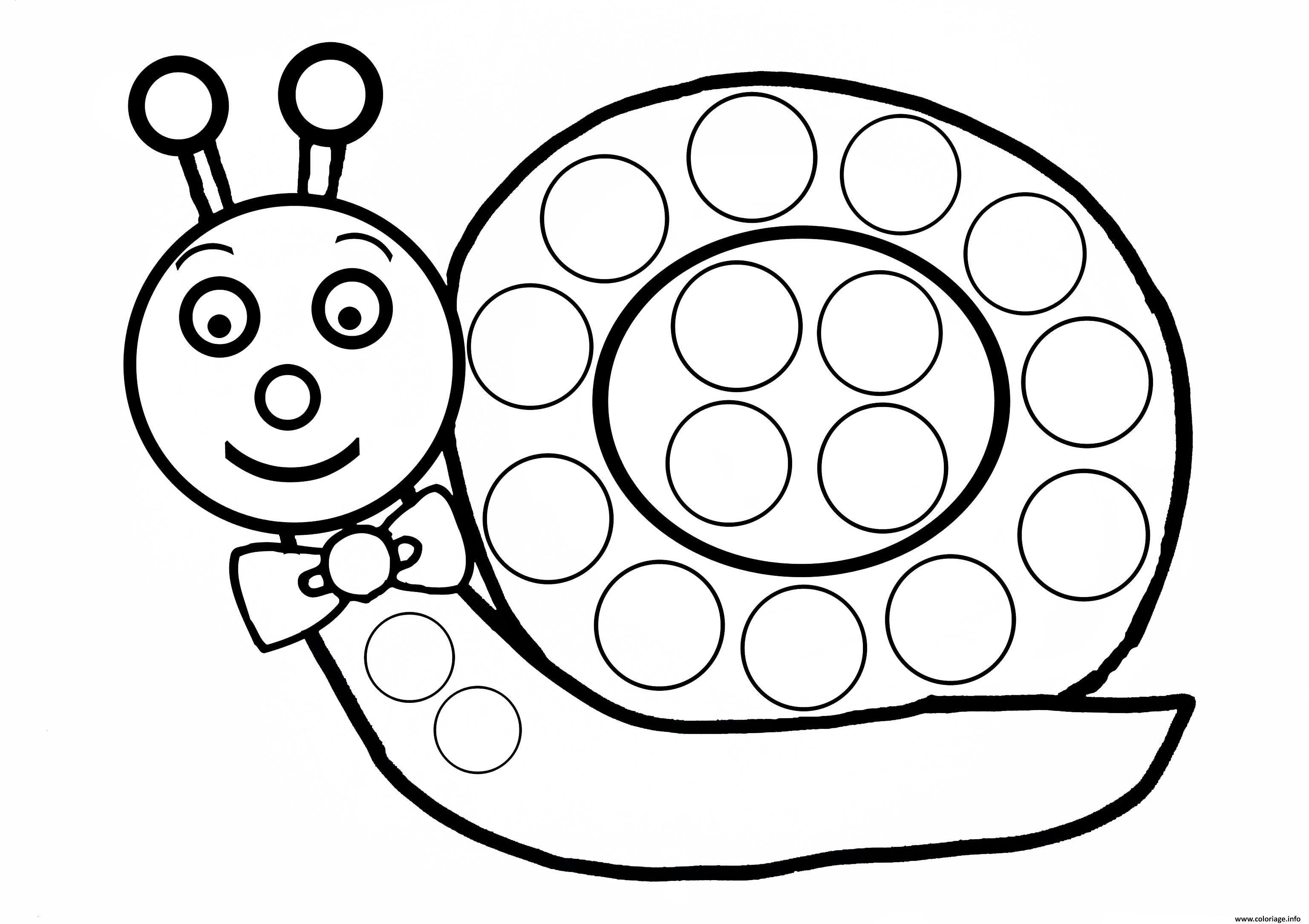 Coloriage Escargot A Gommette Enfant Dessin Coloriage Escargot Escargot Dessin Gommette
