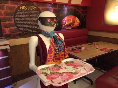 Robot Waiter Serving Pizza in Multan, Pakistan Life