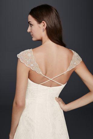 Beaded Tulle Cap Sleeve Topper David S Bridal Beaded Bodice Dress Beaded Tulle Wedding Dresses