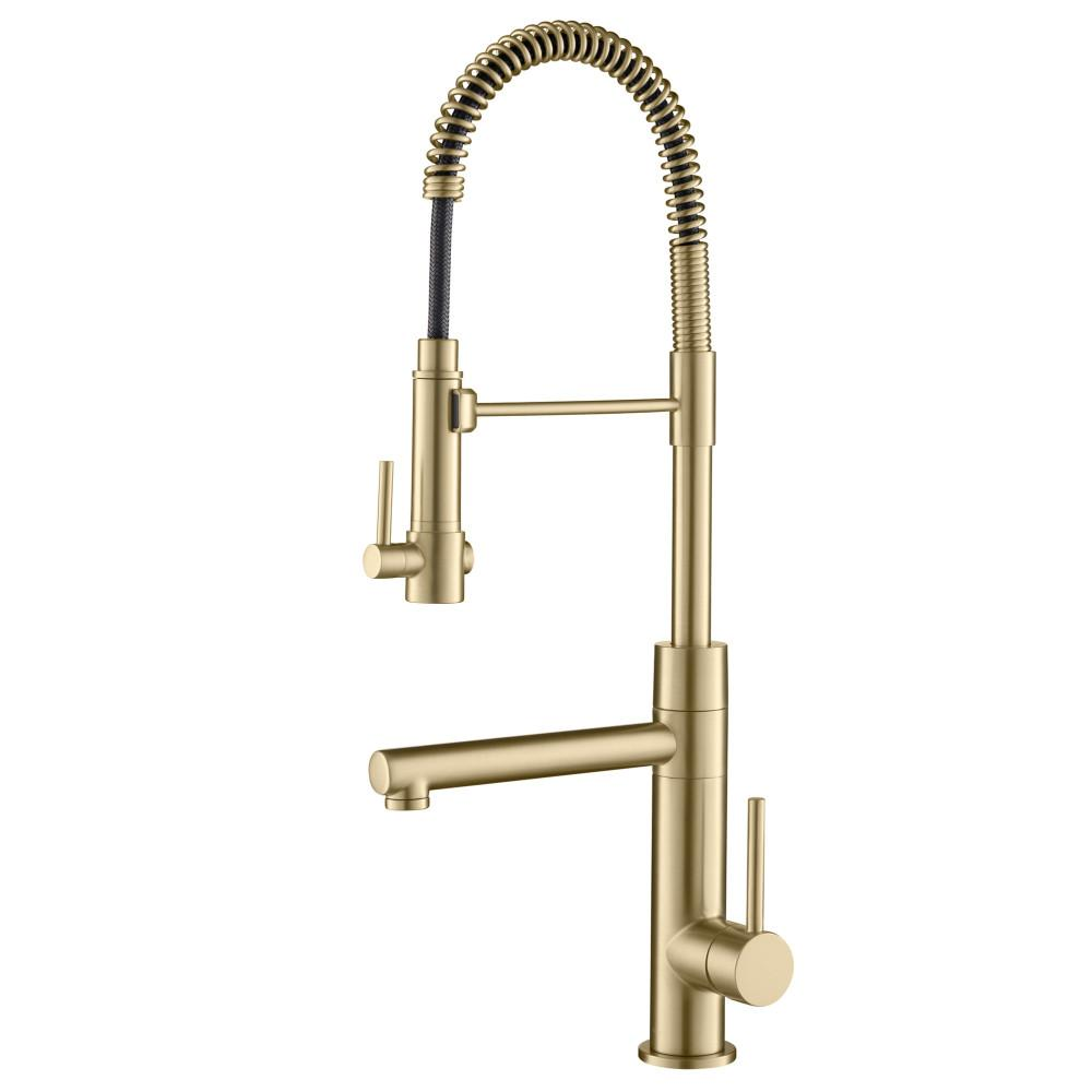 Brushed Gold Kitchen Fixtures