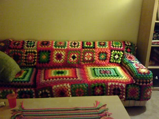 Crochet Couch Cover My Hubby Would Disagree But I Love It