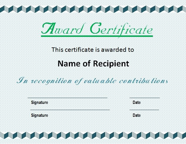 21+ Award Certificate Templates Free Word \ PDF WOw Pinterest - new restaurant gift certificate template free download