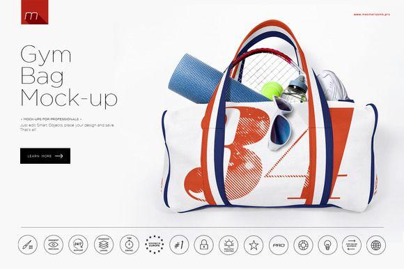 Download Gym Bag Mock Up Gym Bag Bag Mockup Bags