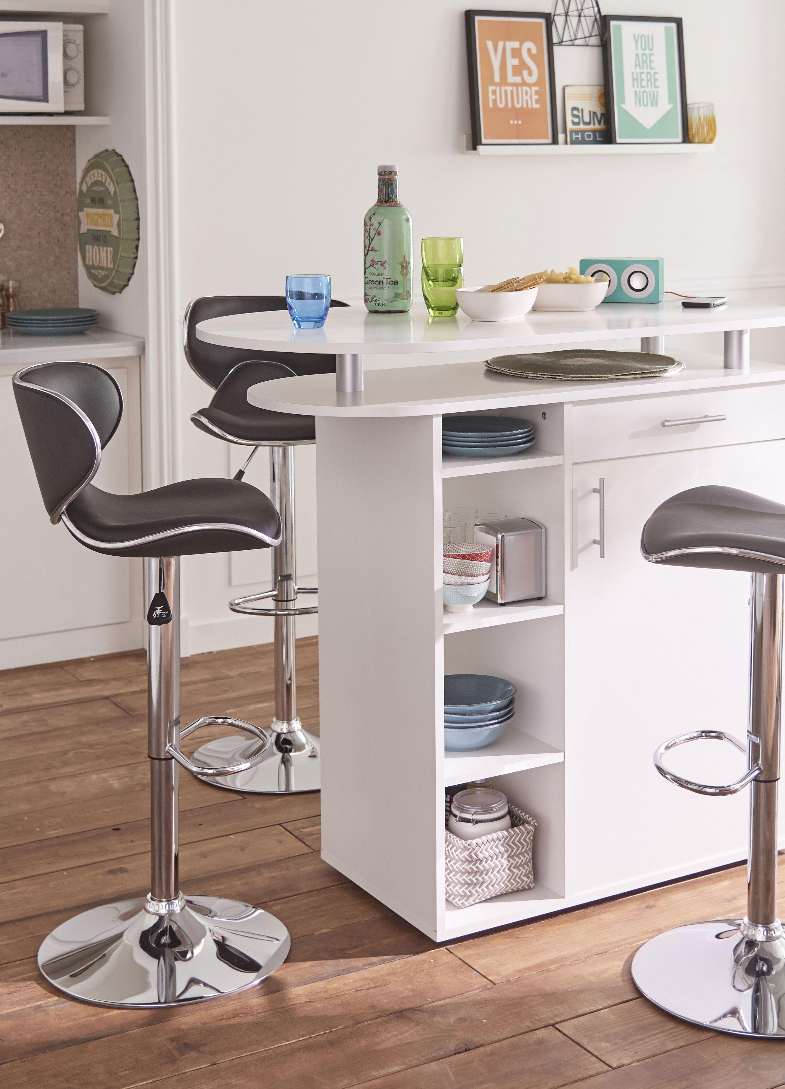 vodka meuble snack bar blanc d coration d co. Black Bedroom Furniture Sets. Home Design Ideas