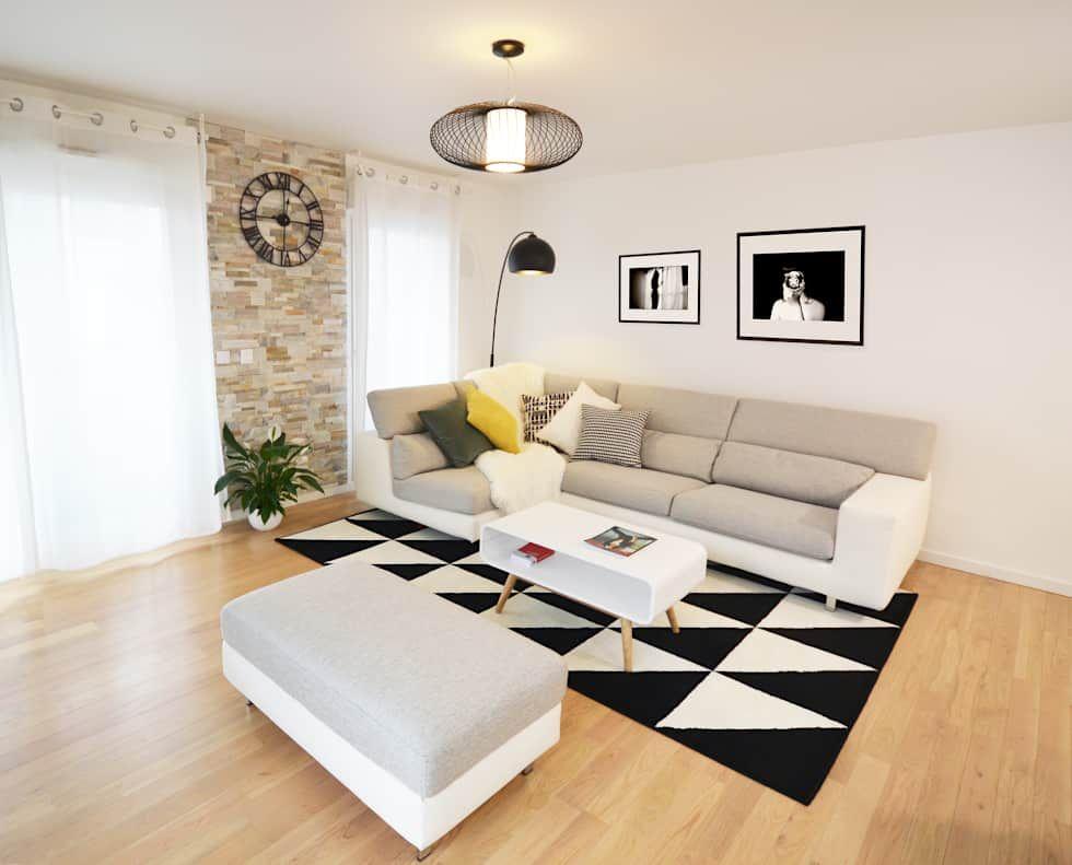 Idées De Design Dintérieur Et Photos De Rénovation Style - Canapé convertible scandinave pour noël architecte interieur