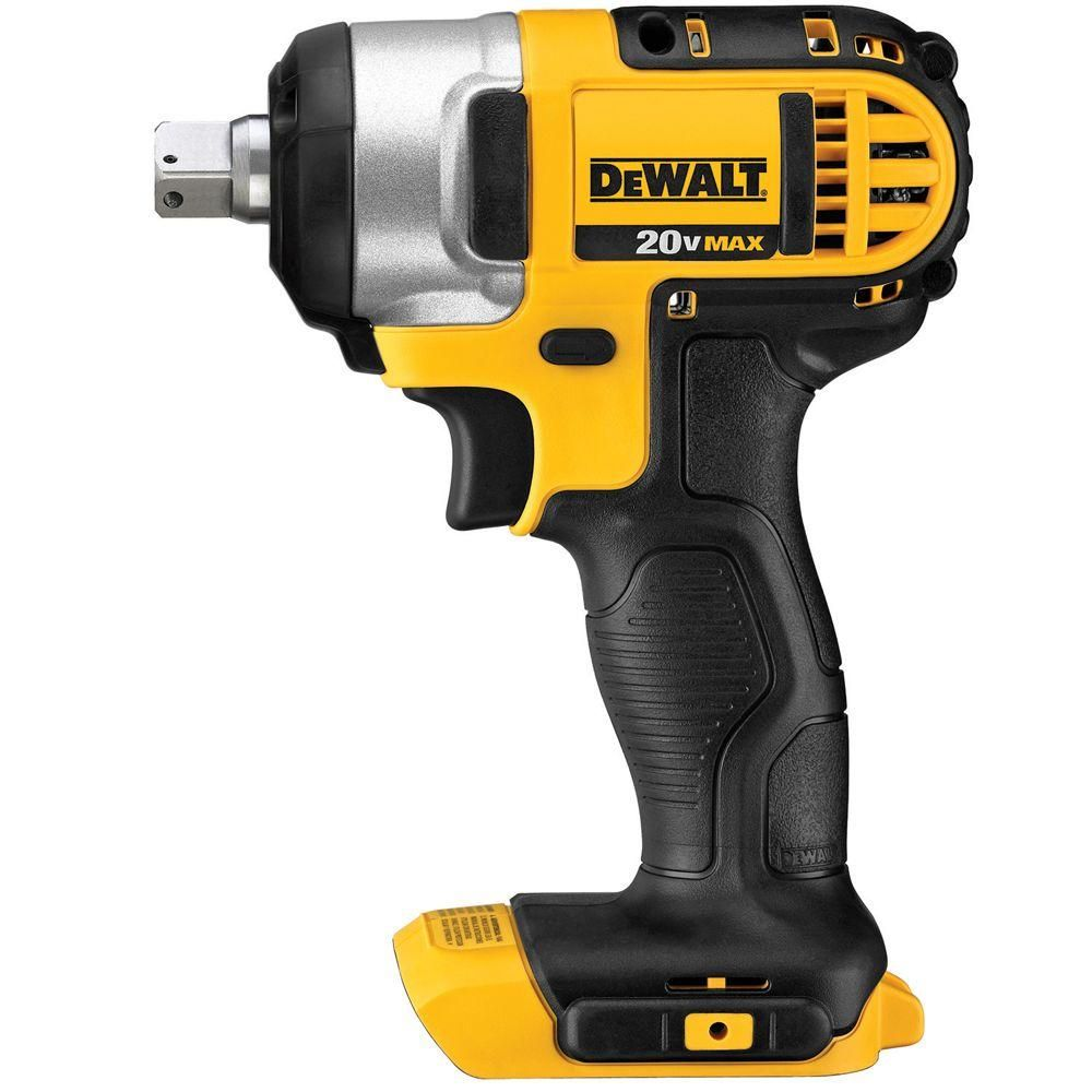 Dewalt 20 Volt Max Lithium Ion Cordless 1 2 In Impact Wrench Kit With Detent Pin Tool Only Dcf880b Cordless Impact Drill Impact Wrench Dewalt