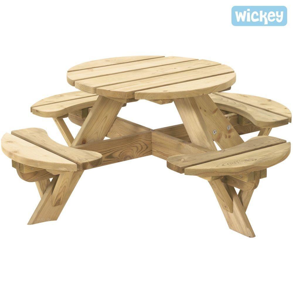 picknicktisch jimmy rund kinderm bel kindergarnitur in. Black Bedroom Furniture Sets. Home Design Ideas