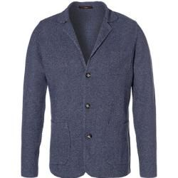 Windsor Strickjacke Herren, Baumwolle, blau windsor #ponchodress