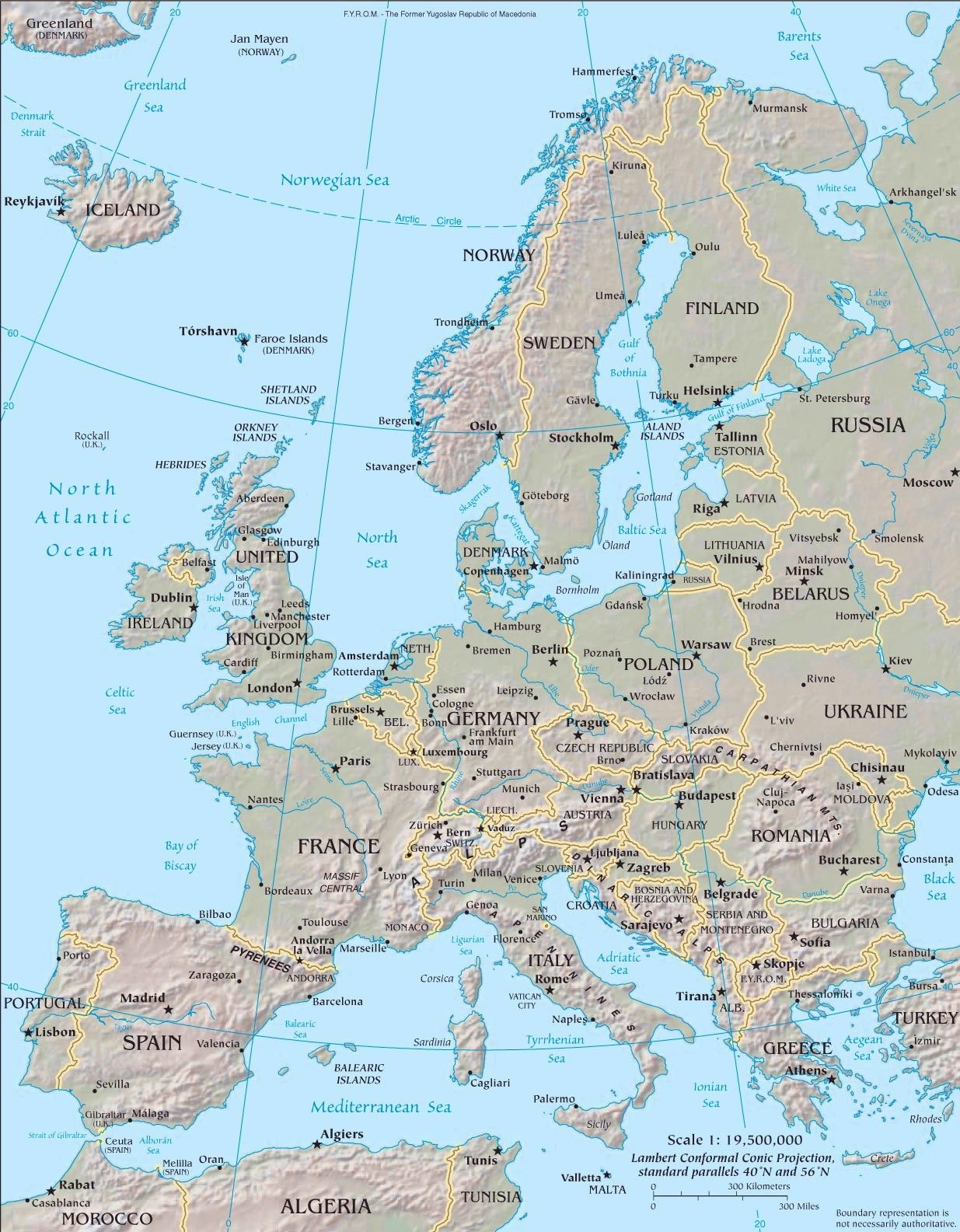 Map Of Eastern Europe Physical Map Europe Physical Map Of Europe