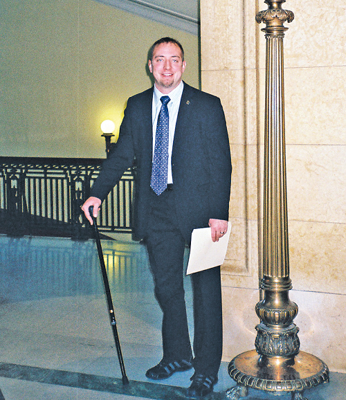 """State Rep. John Kriesel (R-Cottage Grove) is proud to be working with the Amputee Coalition on a bill that would ensure fairness in medical coverage for those who have lost limbs. That's because he knows first-hand what limb loss is like."""