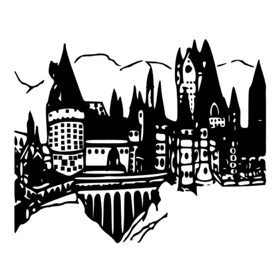 Pin By Amaysing Svgs On Decal Svgs Hogwarts Silhouette