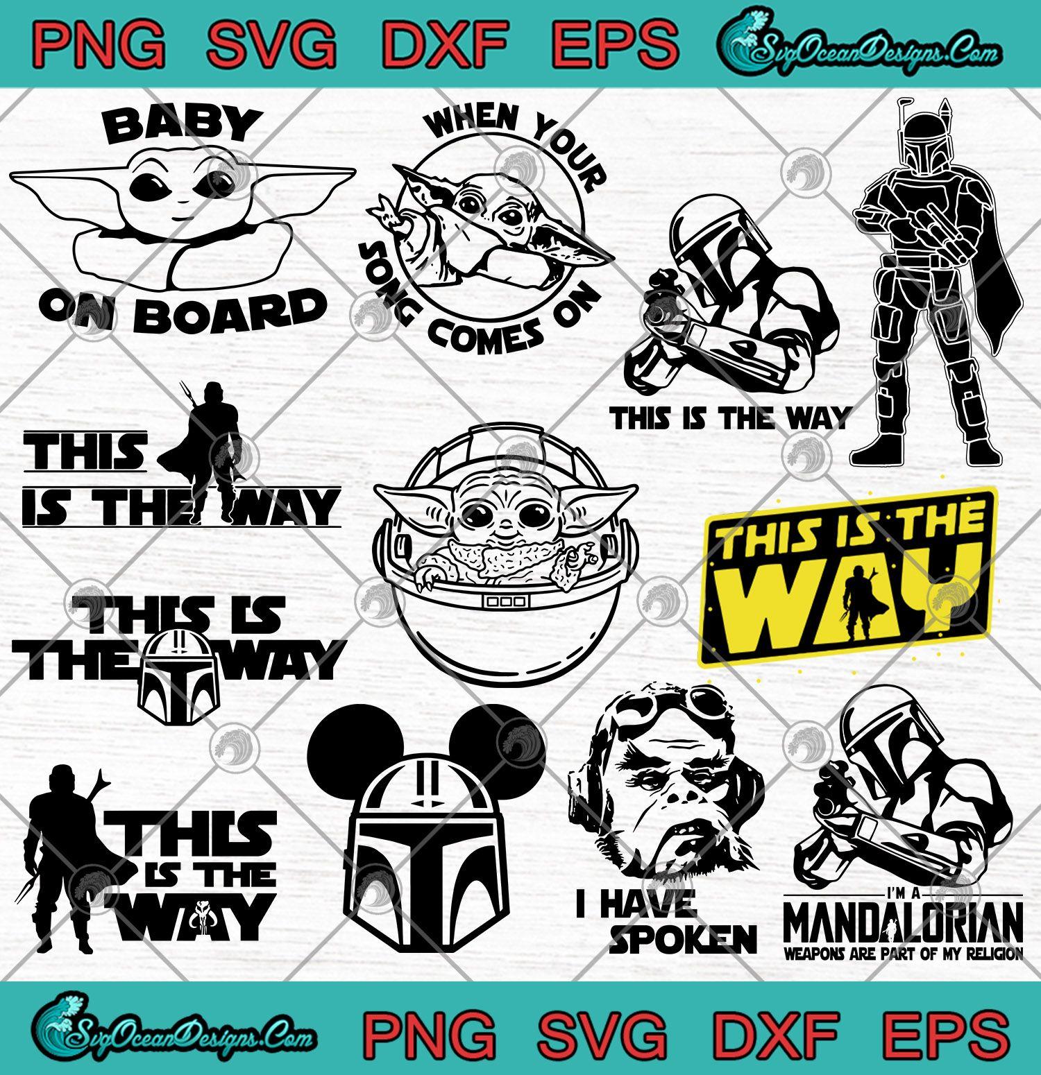 Download Star Wars The Mandalorian Bundle SVG - Baby Yoda Svg -This ...