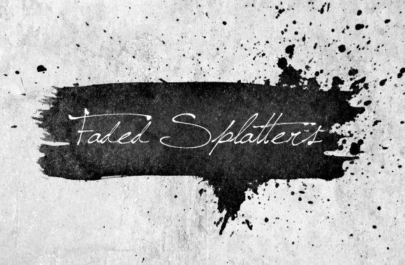 Free Faded Splatters Brush Set