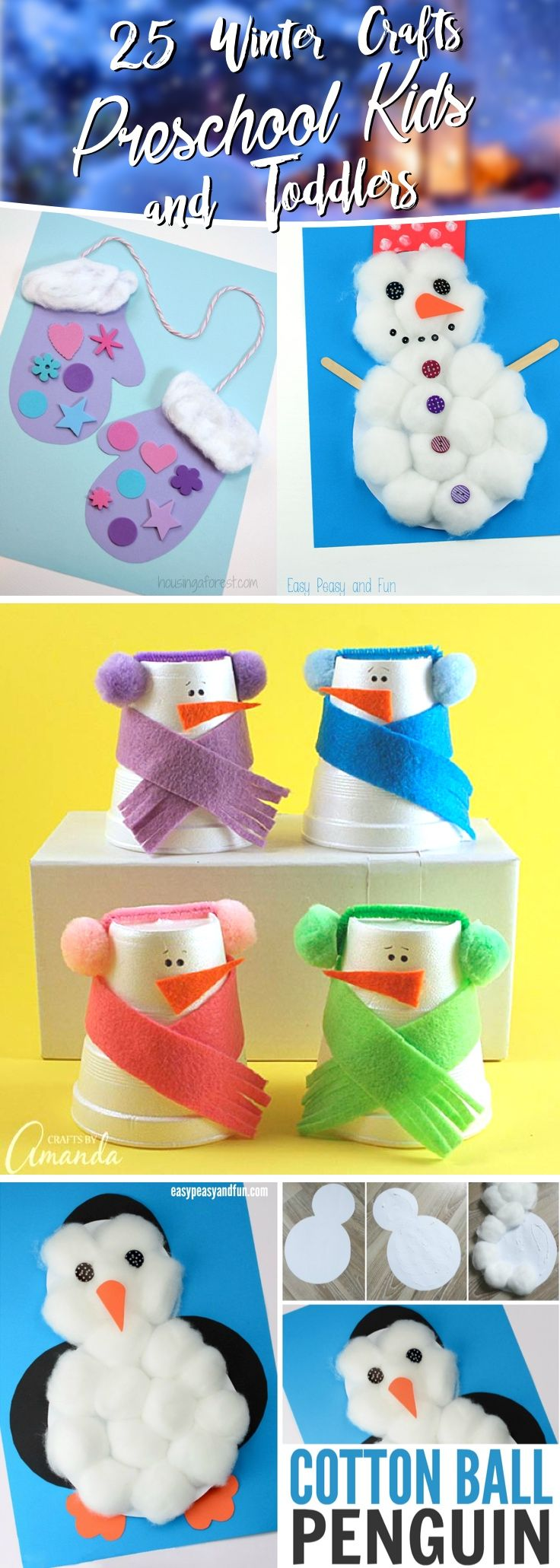 25 Winter Crafts Preschool Kids and Toddlers Are G