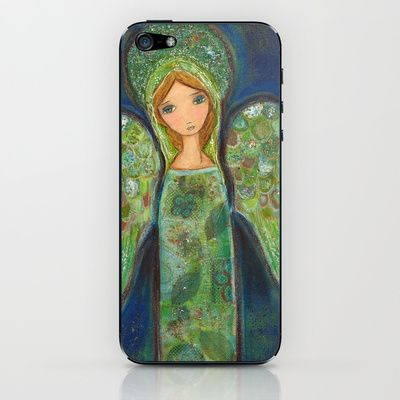 New! Angel Verde by Flor Larios iPhone & iPod Skin by Flor Larios Art - $15.00