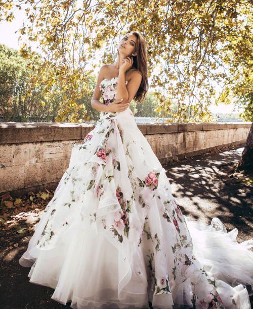 Floral Wedding Dresses Tumblr