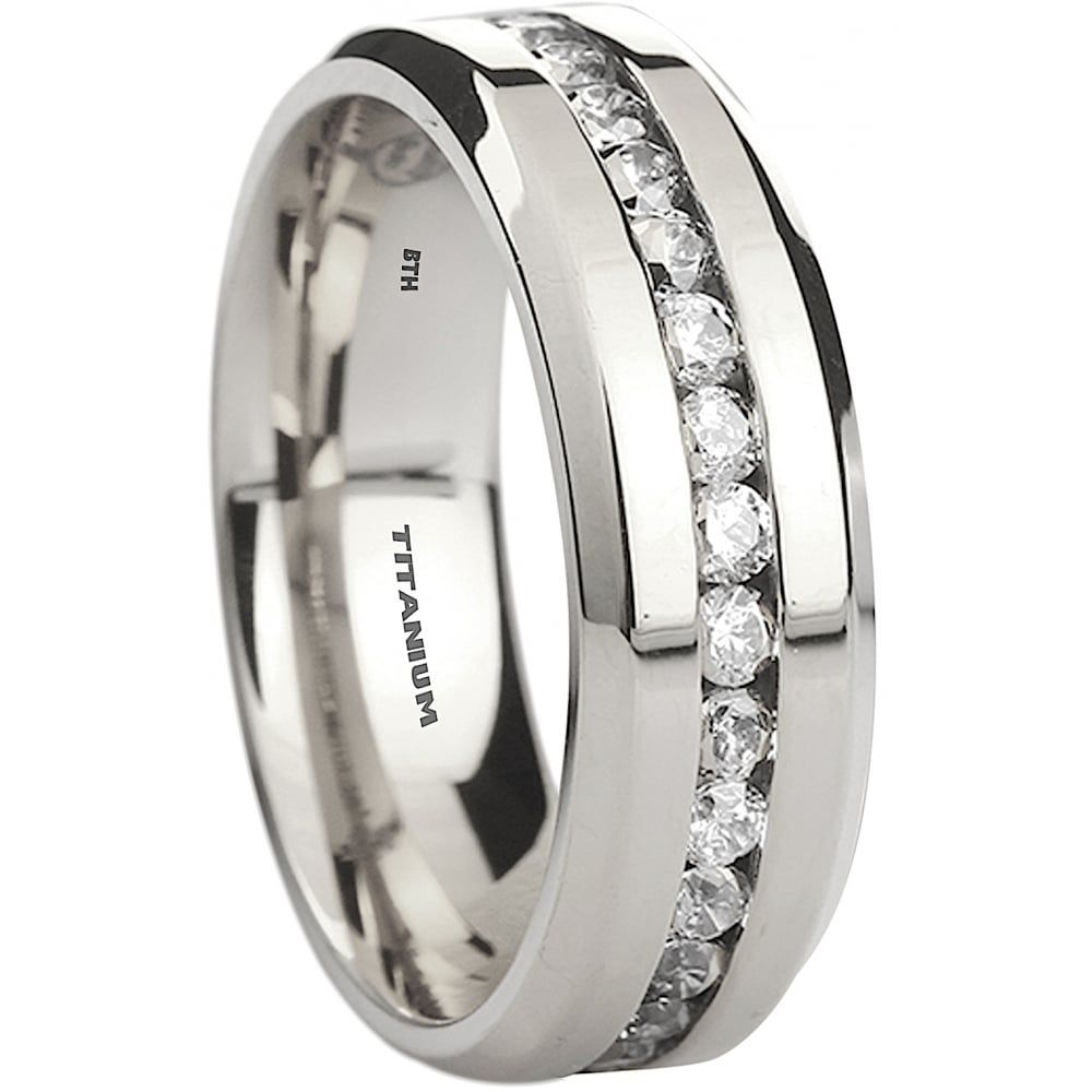 Beautiful mens rings collection 3 titanium rings for