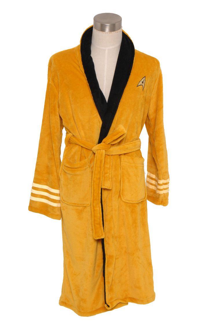 Click to buy ucuc star trek captain kirk fleece hoodie gown bath robe